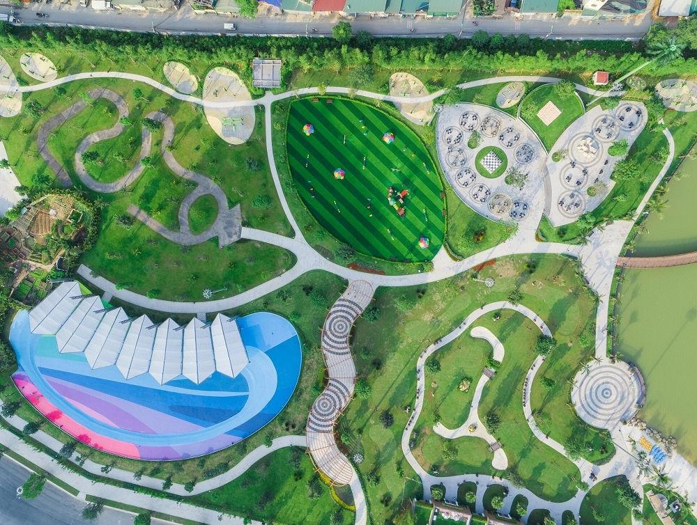 Bộ ba công viên liên hoàn rộng 16,3 ha đã lên hình hài hoàn chỉnh